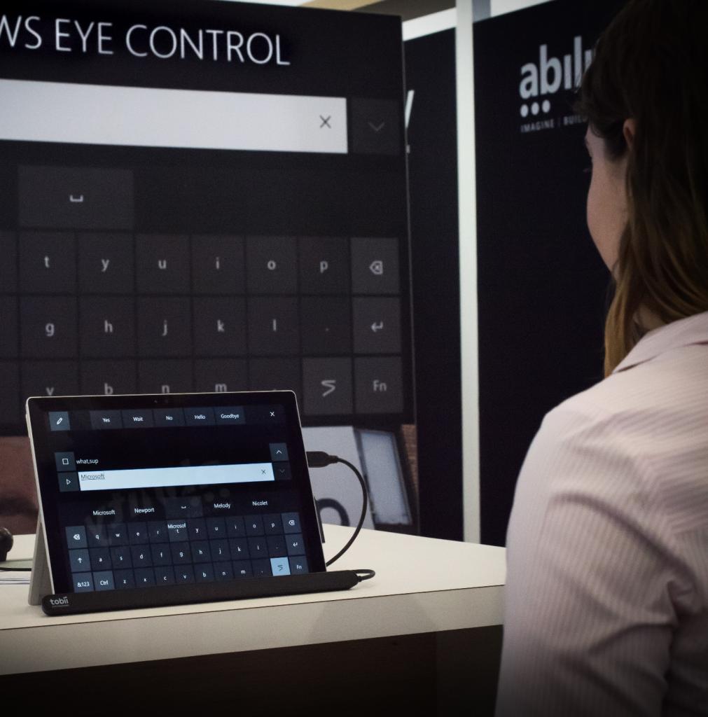 Eye Control demo at 2017 Microsoft OneWeek hackathon event