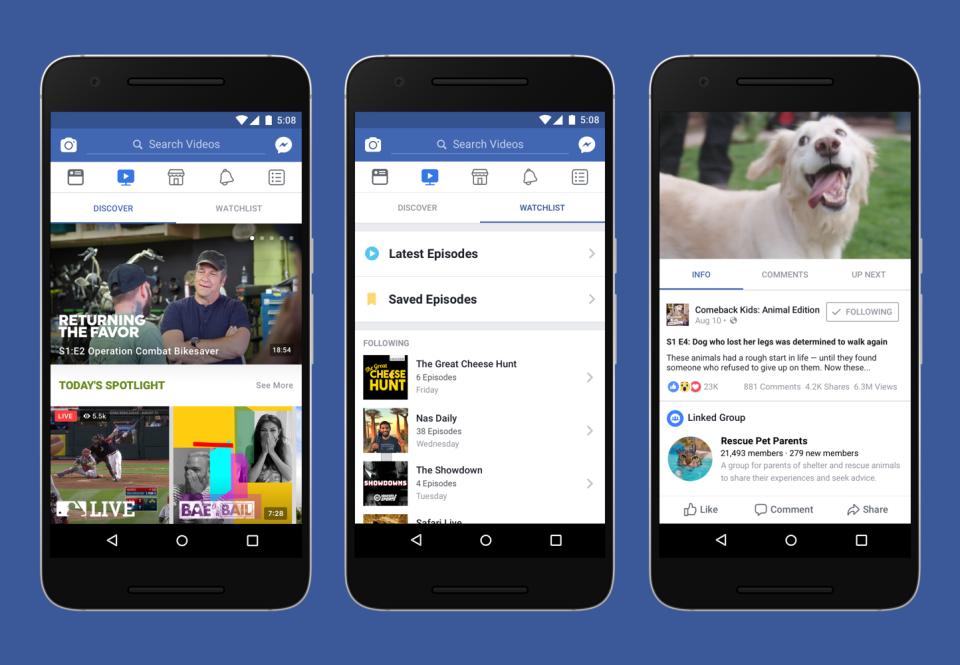 Watch New Shows Platform on Facebook