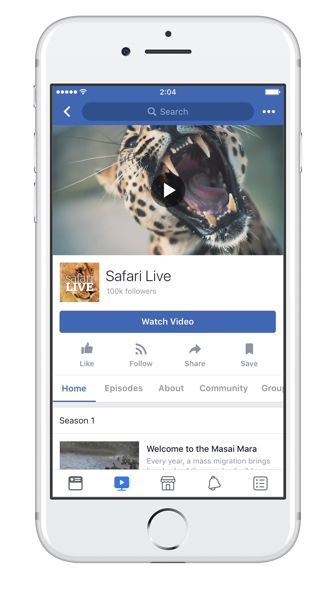 Show Pages on Facebook