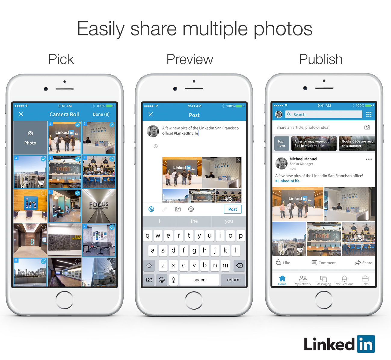 Multiple images on LinkedIn posts and articles