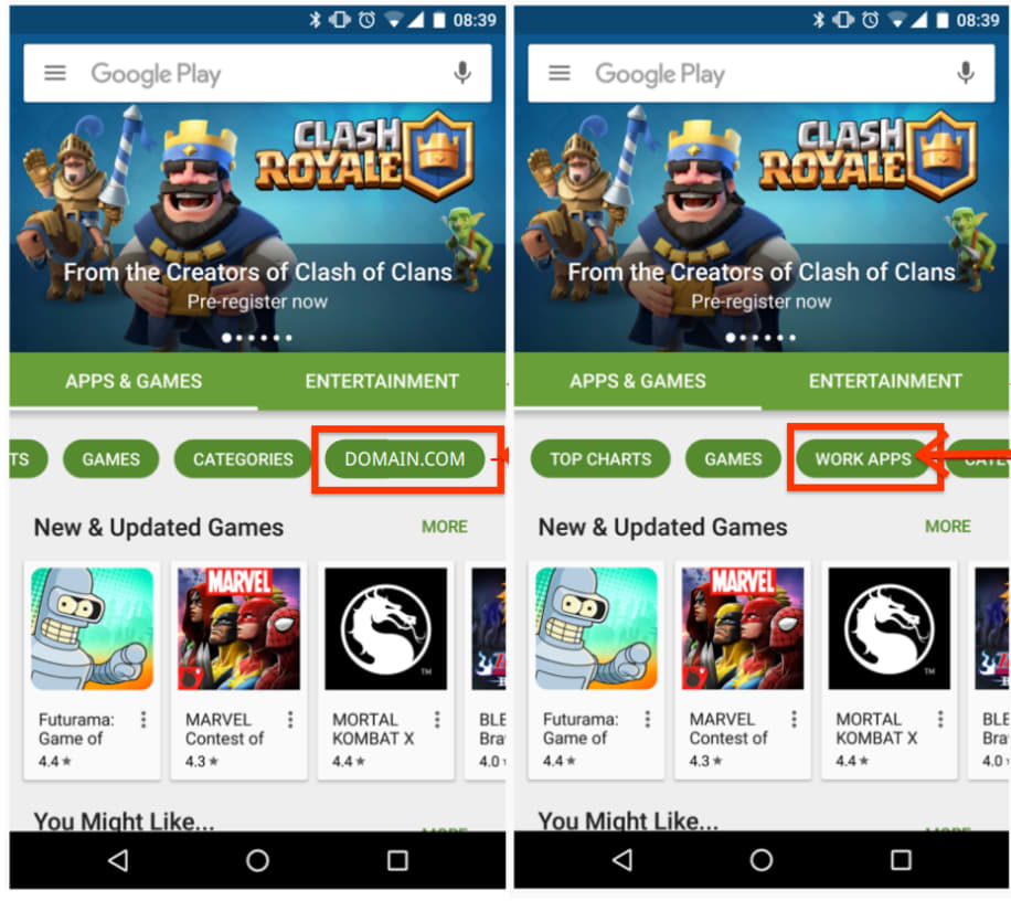 Google Play Private Channel apps now part of managed Play Store