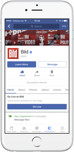 facebook live contributor for pages