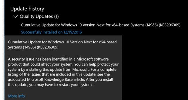 windows 10 creators update build 14986.1001