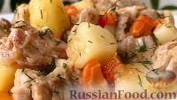 Картошка в томатном соусе с мясом