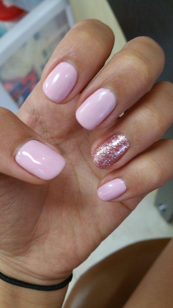 Pink gel nails pinterest