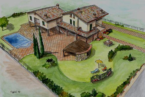 Progetto giardino lamberto caponi for Giardino 30 mq progetto
