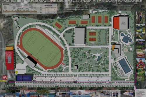 Ipotesi di trasformazione del parco snam a san donato for Arredamenti ballabio san donato milanese