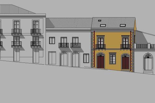 Progetto di riqualificazione edificio nel centro storico for Mobilia center e confiavel