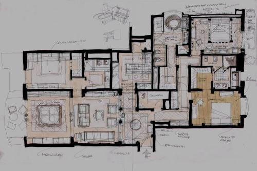 Progetto per architettura degli interni appartamento in for Architetti per interni