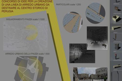 Nuova linea di arredo urbano per il centro storico della for Studio arredo perugia