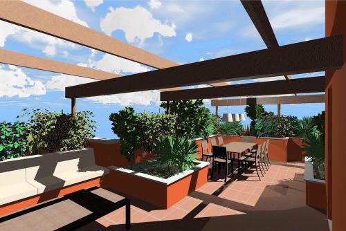 Due soluzioni per un terrazzo a milano raffaella guazzoni for Divani per terrazzo