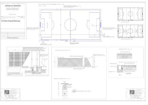 Planimetria campo calcio model  1