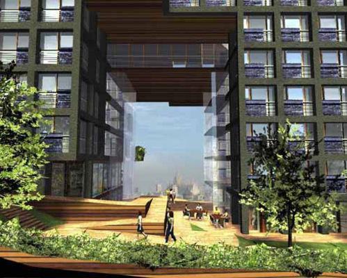 14 progetto milano la piazza panoramica