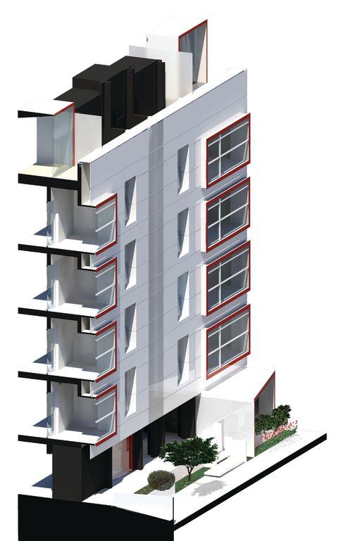 6a3ta render spaccato assonometrico facciata ventilata