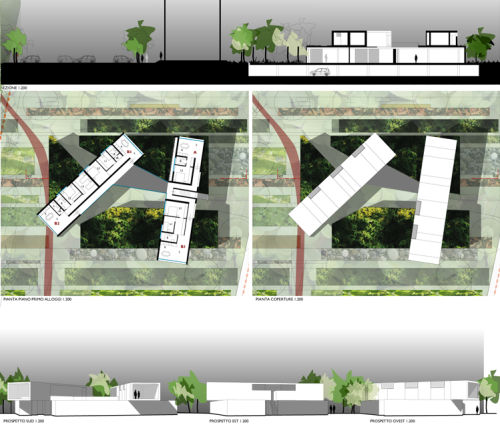 6a3ta piante prospetti sezioni corti