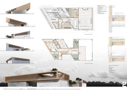 Concorso di idee per la progettazione di un capannone - Tavole di concorso architettura ...