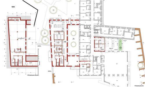 Riorganizzazione servizi interni e riqualificazione dell for Planimetrie della casa texas