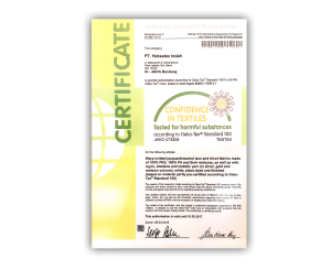 Certificate Confidence in Textile 2016