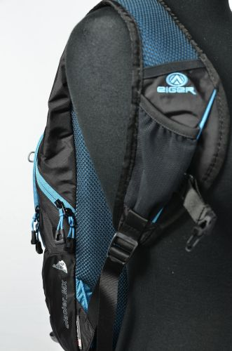 Blue Double Mesh on Eiger Backpack Padding