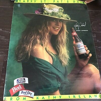 Kathy ireland beer poster