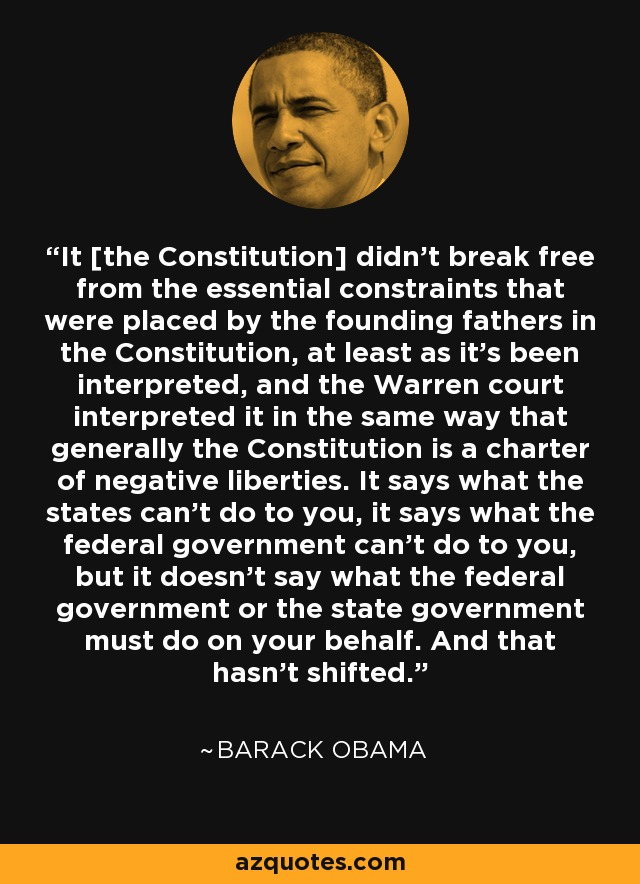 Barack obama constitution quote