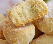 Песочное печенье хризантемы через мясорубку