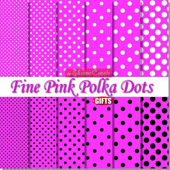 Pink and black polka dot sheets