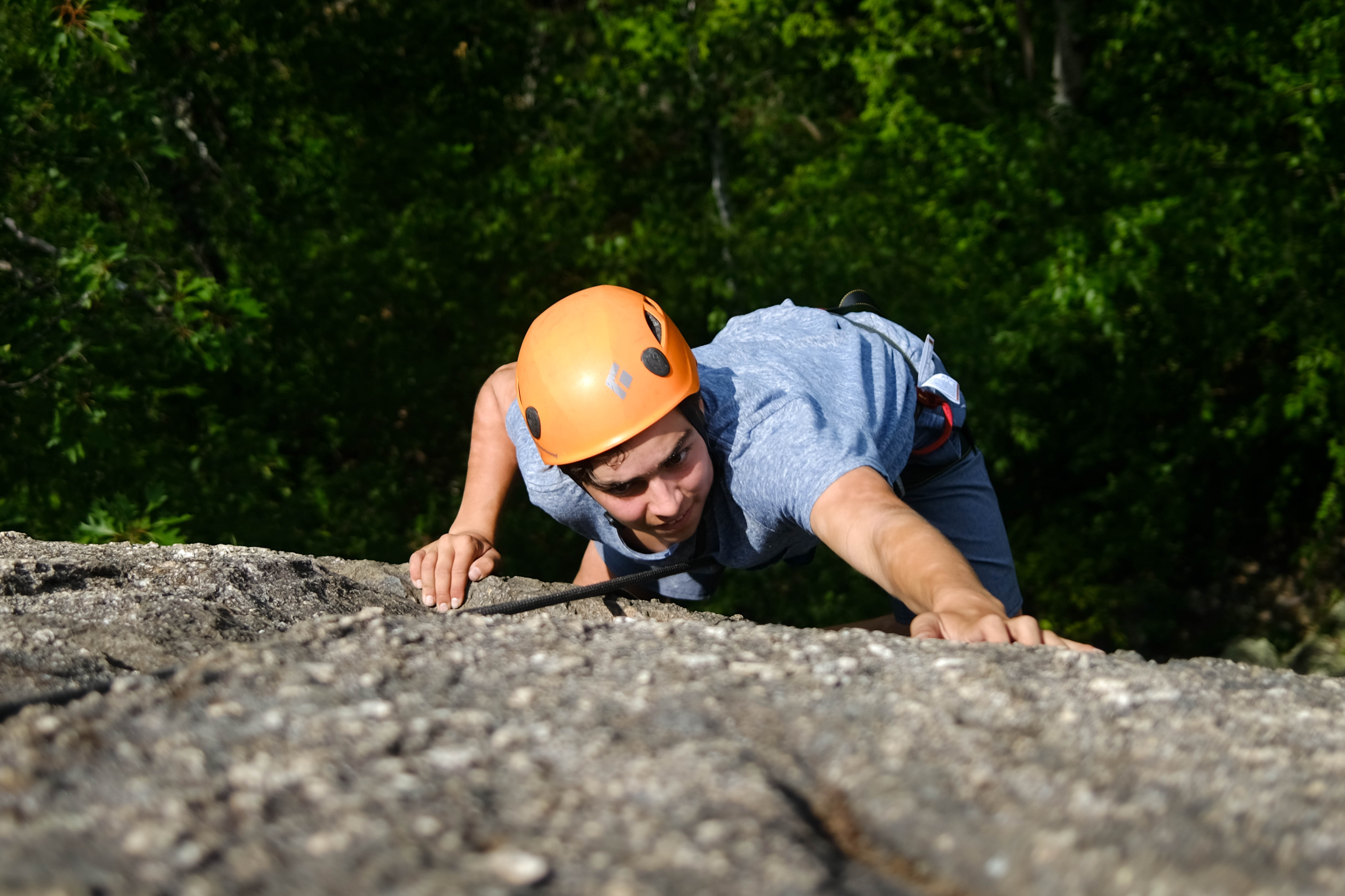 Climber's Journey Up North