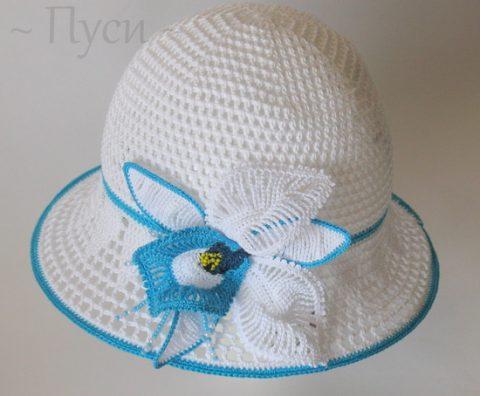 Детская шапочка с Лилией крючком от Пуси