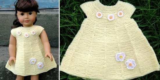 Вяжем одежду для кукол спицами с описанием и схемами