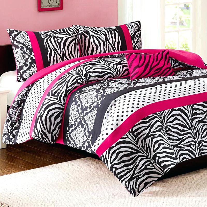 Pink zebra sheets queen