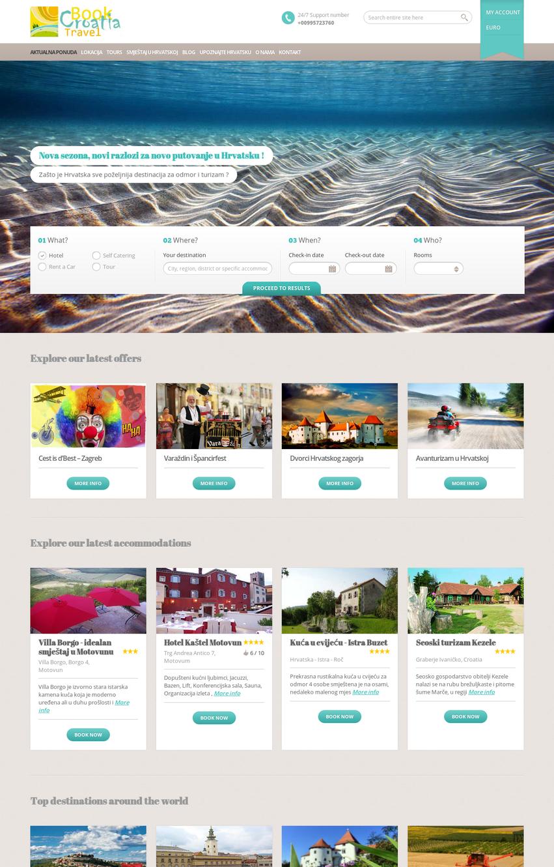 web stranica s rezervacijskim - booking sustavom