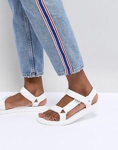 Белые сандалии с ремешками adidas Originals - Белый