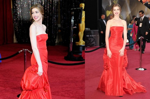 Anne hathaway academy awards dresses
