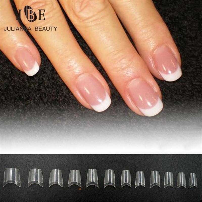 Fake french tips nails