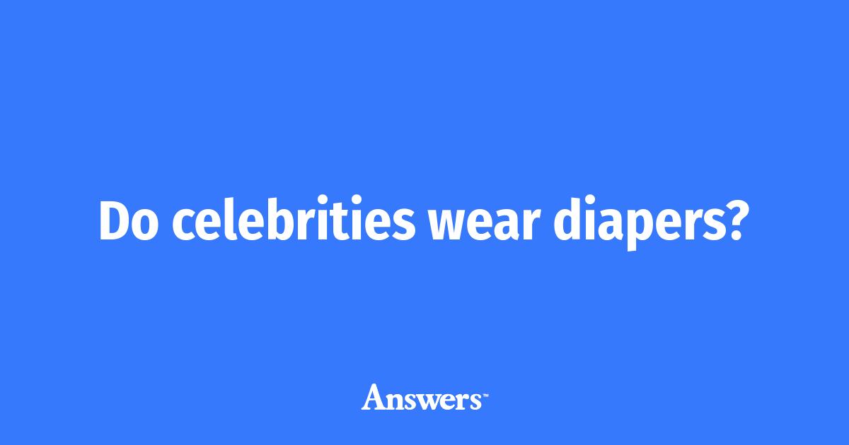 Celebrities wearing diapers pictures