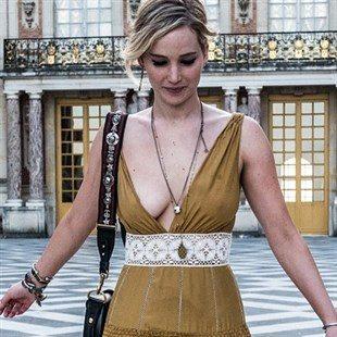 Jennifer Lawrence Teasing Her Nipples In France
