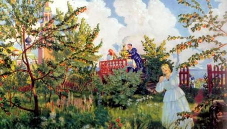 Русский праздник яблочный спас в