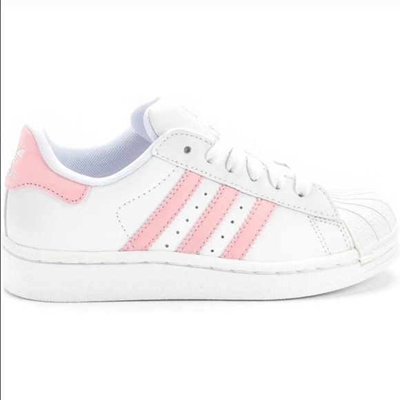 Adidas superstar light pink stripes