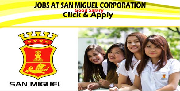San miguel corporation philippines job vacancy