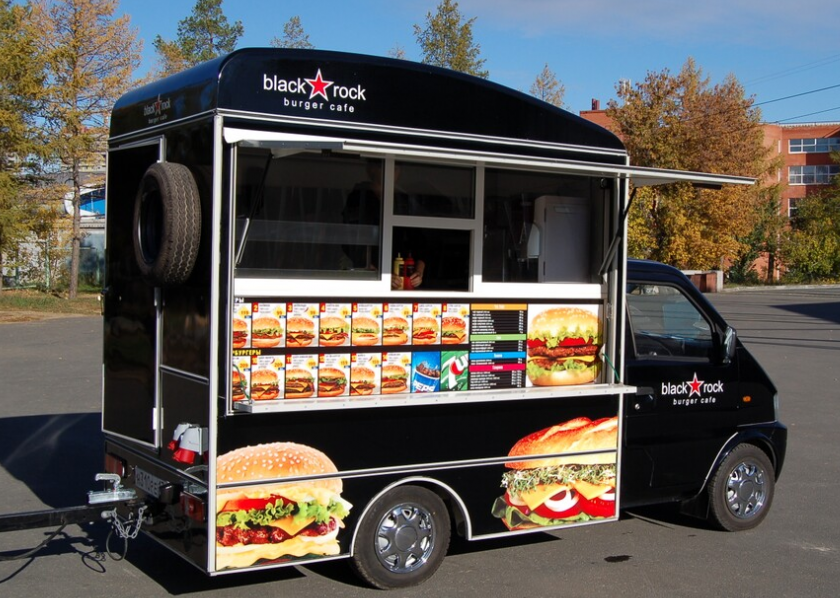 Купить фургон для фаст фуда на колесах
