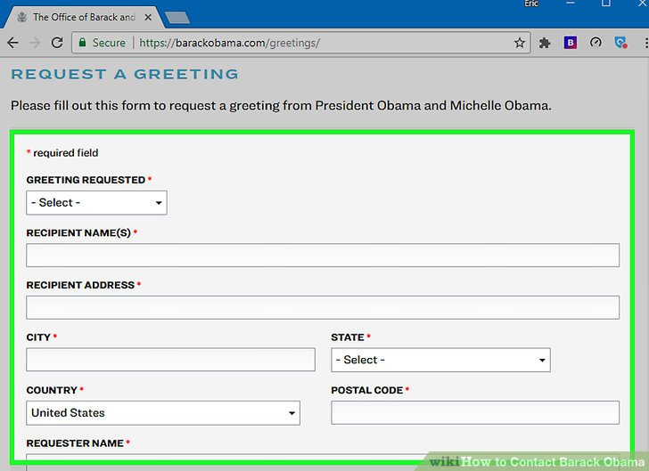 Image titled Contact Barack Obama Step 4
