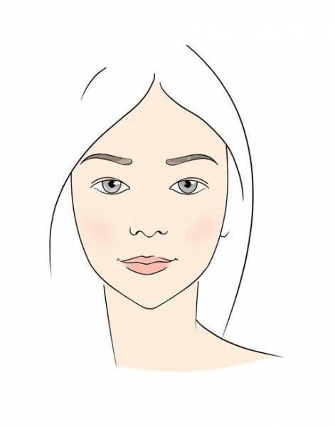 брови для треугольного лица