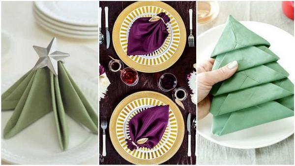 Как сервировать красиво салфетки
