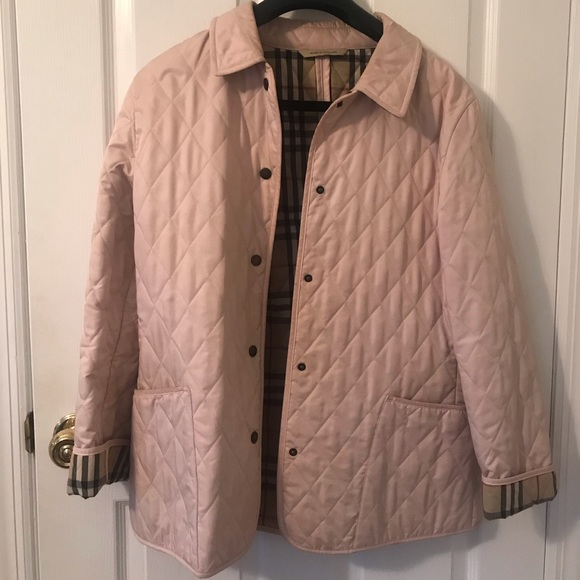 Burberry quilted jacket pink