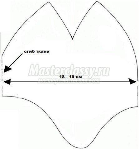 Выкройка для шапки трикотажной