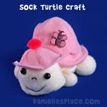 Sock Turtle Craft from www.daniellesplace.com