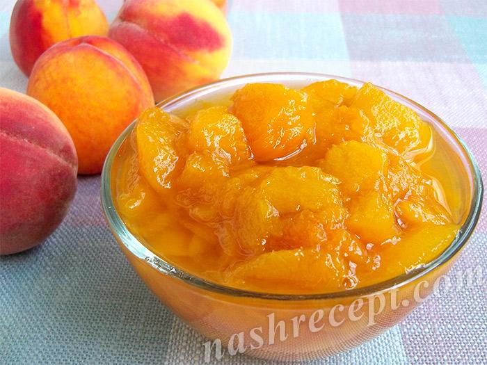 Варенье из слив и персиков