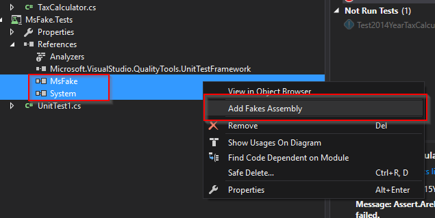 Add fake assemblies