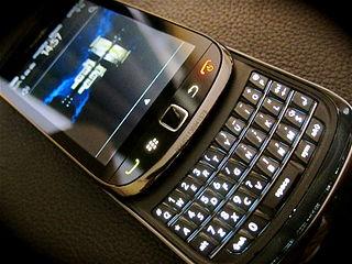Celebrities blackberry torch